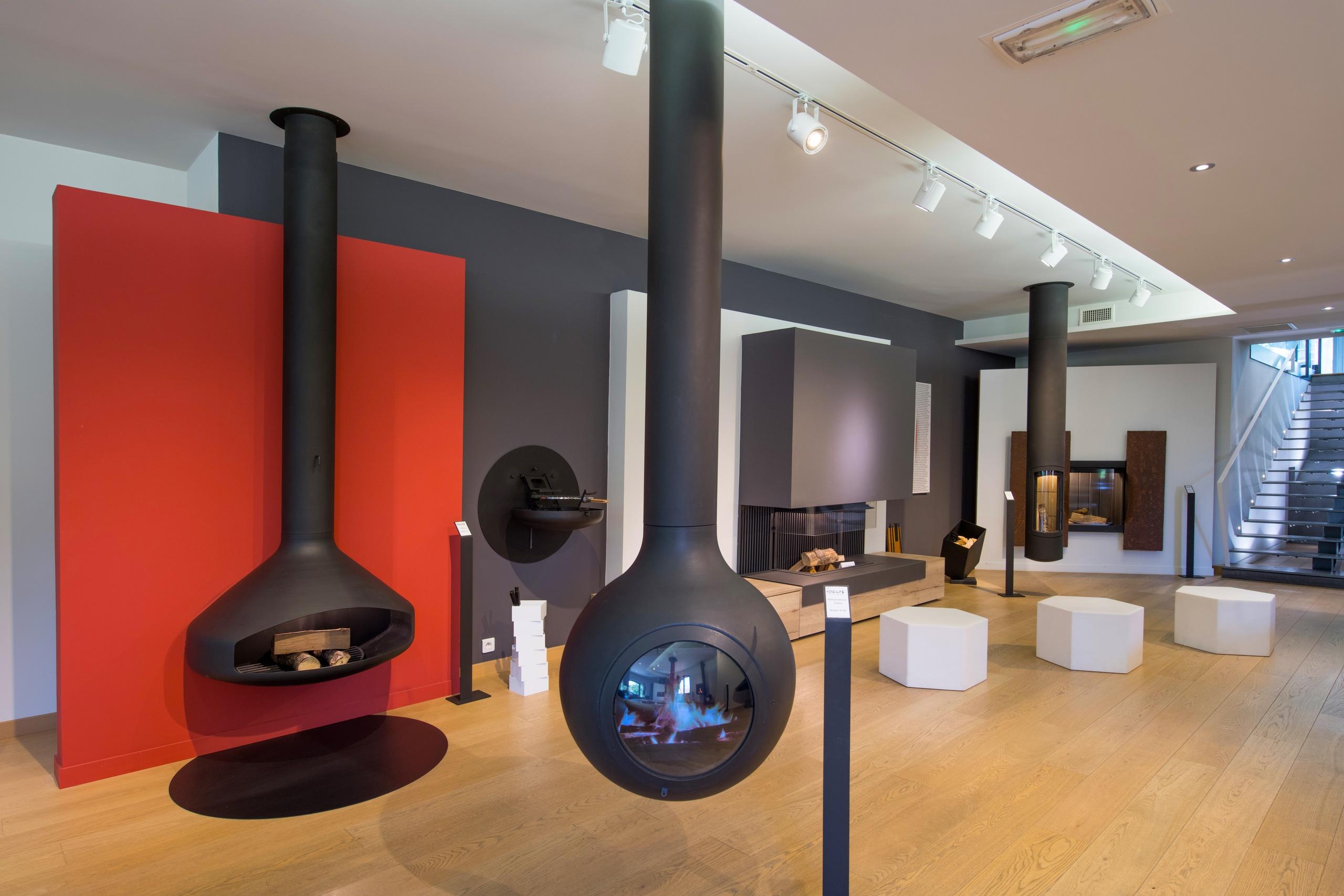 showroom cheminée planika focus kalfire